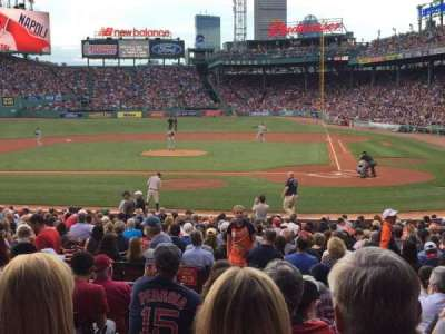 Fenway Park, section: 139, row: JJ, seat: 1