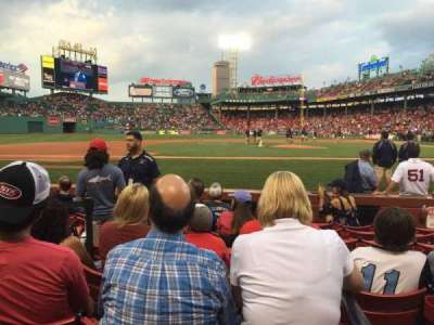 Fenway Park, section: Field Box 60, row: F, seat: 1