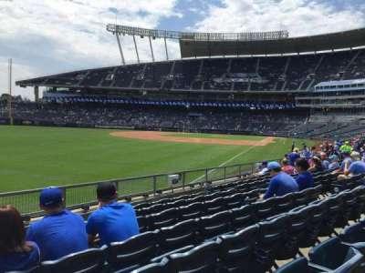 Kauffman Stadium, section: 109, row: N, seat: 1
