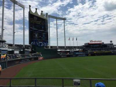 Kauffman Stadium, section: 109, row: N, seat: 1