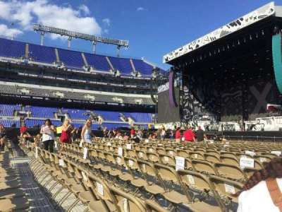 M&T Bank Stadium, section: A2, row: 25, seat: 4