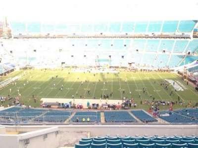 TIAA Bank Field, section: 409, row: L, seat: 28