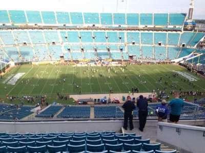 TIAA Bank Field, section: 410, row: M, seat: 26