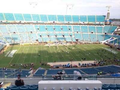 TIAA Bank Field, section: 411, row: L, seat: 11