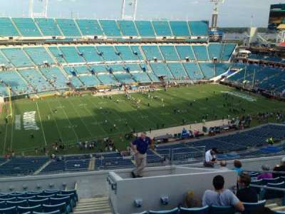 EverBank Field, section: 213, row: G, seat: 18