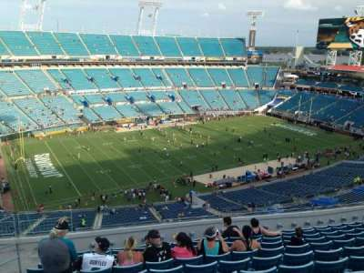 EverBank Field, section: 214, row: J, seat: 19
