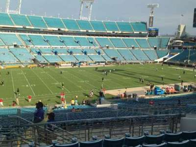 EverBank Field, section: 216, row: J, seat: 12