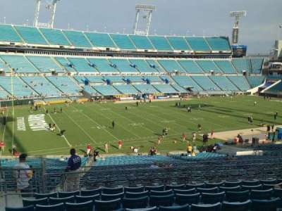 EverBank Field, section: 218, row: H, seat: 10