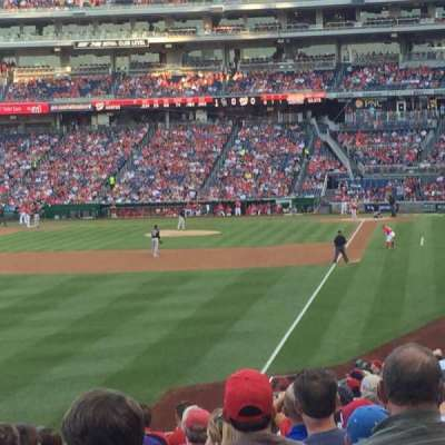 Nationals Park, section: 107, row: LL, seat: 18