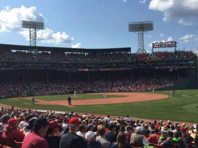Fenway Park, section: Right Field Box 96, row: MM, seat: 1
