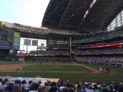 Miller Park, section: 121, row: 16, seat: 5