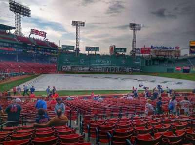 Fenway Park, section: Loge Box 122, row: HH, seat: 1