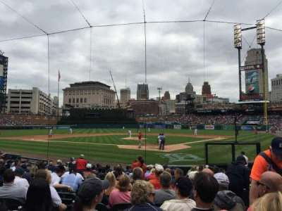 Comerica Park, section: 129, row: 17, seat: 3