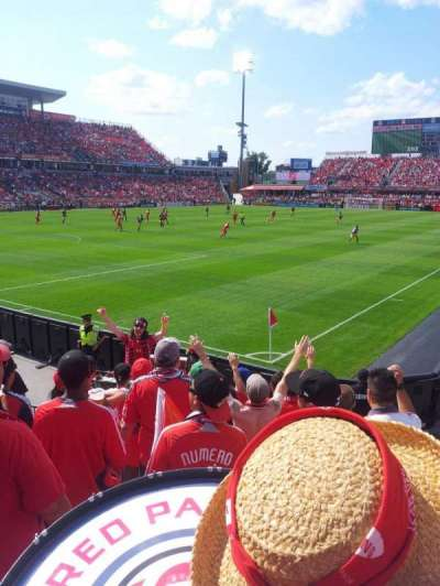 BMO Field, section: 112, row: 10ish, seat: 1-8