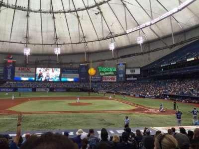 Tropicana Field, section: 113, row: V, seat: 7