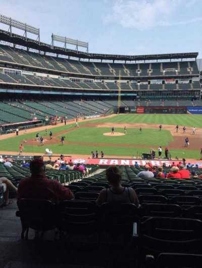 Globe Life Park in Arlington, section: 133, row: 33, seat: 13