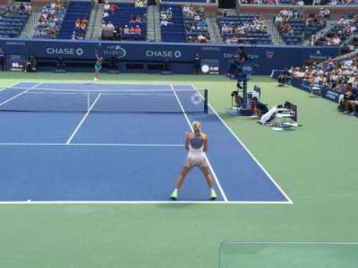 Arthur Ashe Stadium, section: 36, row: F, seat: 1
