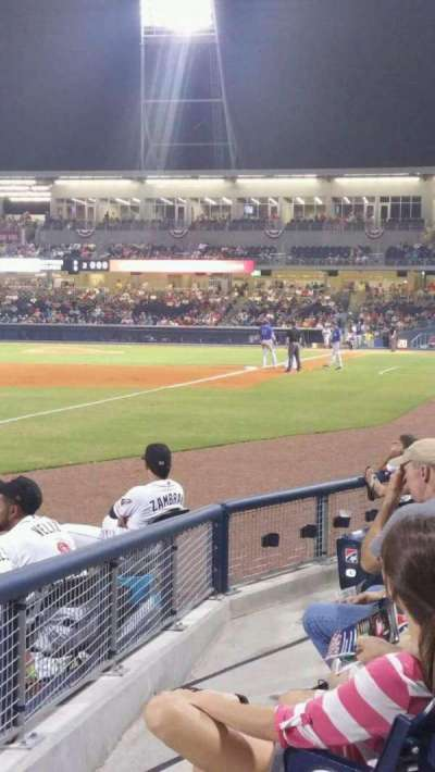 First Tennessee Park, section: 105, row: F, seat: 21