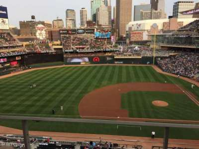 Target Field, section: 221, row: 2, seat: 10