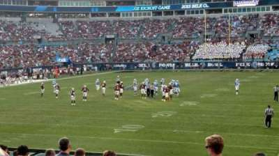 Bank of America Stadium, section: 119, row: 18, seat: 11