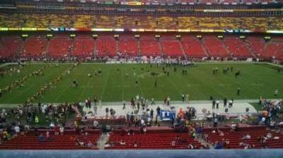 FedEx Field, section: 301, row: 1, seat: 17