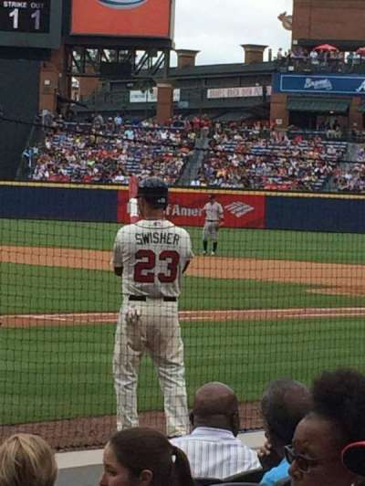 Turner Field, section: 105L, row: 4, seat: 106