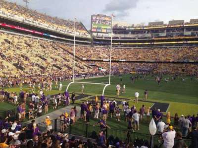 Tiger Stadium, section: 208, row: 1, seat: 20