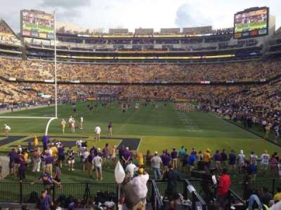 Tiger Stadium, section: 204, row: 1, seat: 20