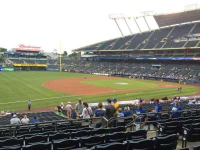Kauffman Stadium, section: 215, row: GG, seat: 8