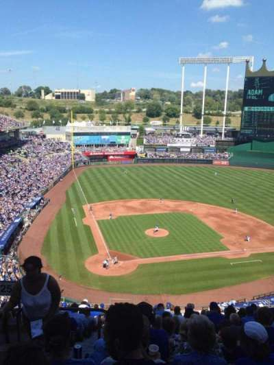 Kauffman Stadium, section: 425, row: V, seat: 1