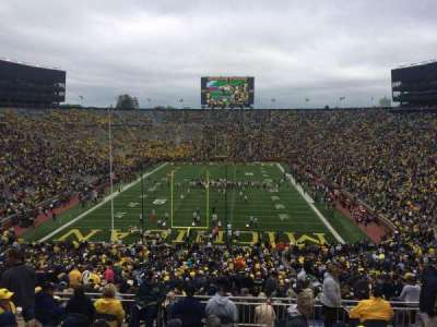 Michigan Stadium, section: 11, row: 82, seat: 5