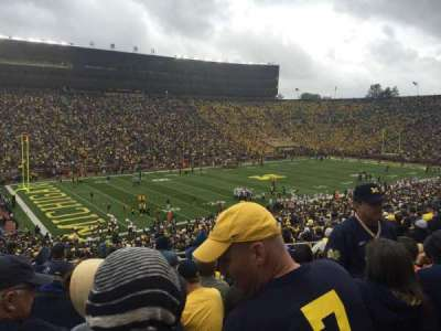 Michigan Stadium, section: 6, row: 63, seat: 20