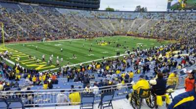 Michigan Stadium, section: 7, row: 62, seat: 28