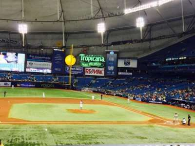 Tropicana Field, section: 115, row: FF, seat: 1