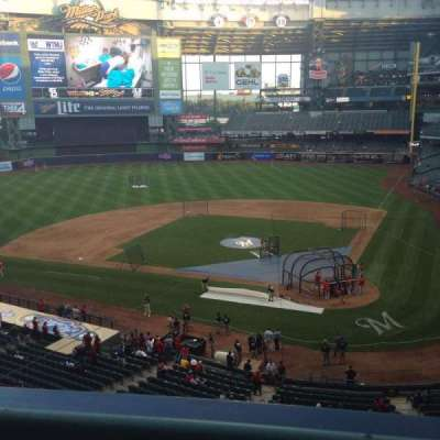 Miller Park, section: 335, row: 1, seat: 2