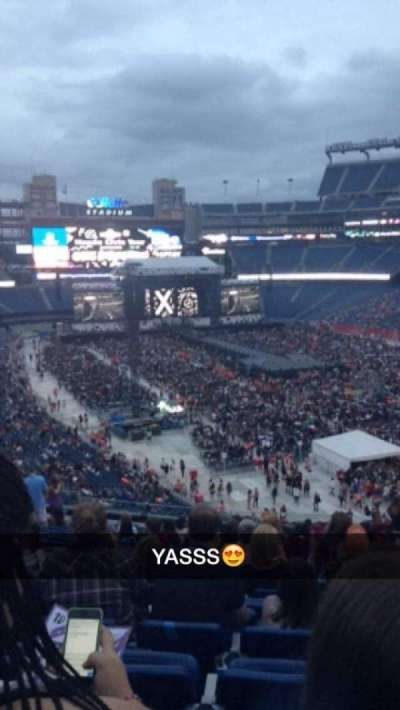 Gillette Stadium, section: 202, row: 20, seat: 6