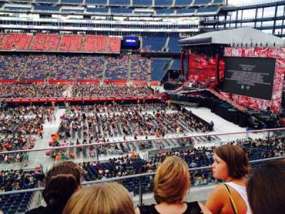 Gillette Stadium, section: CL29, row: 3