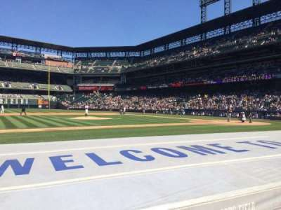 Coors Field, section: 139, row: 6, seat: 1