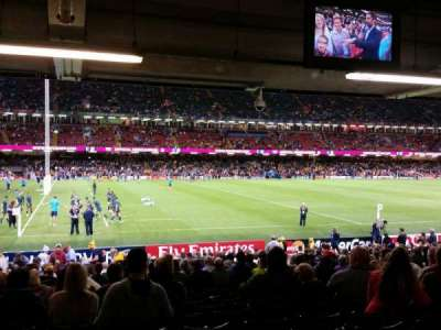 Principality Stadium, section: L33, row: 25, seat: 5/6/7