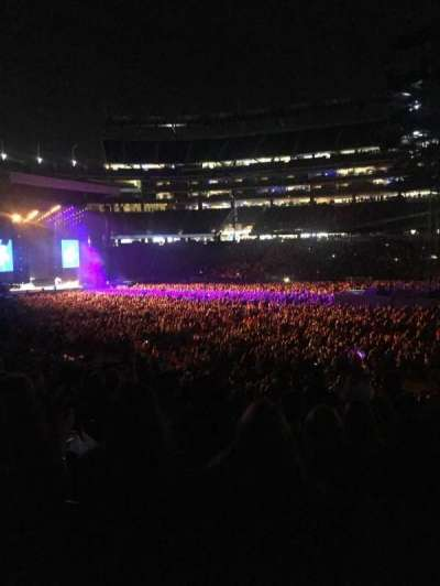 Gillette Stadium, section: 108, row: 29, seat: 3