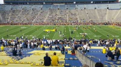 Michigan Stadium, section: 1, row: 44, seat: 8