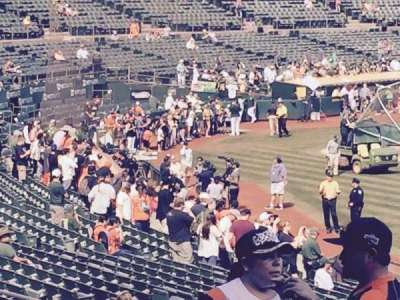 Oakland Alameda Coliseum, section: 109, row: 31, seat: 1