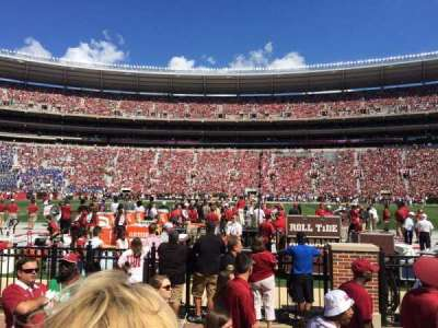 Bryant-Denny Stadium, section: G, row: 2, seat: 5