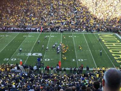Michigan Stadium, section: 21, row: 78, seat: 27