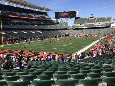 Paul Brown Stadium, section: 150, row: 23, seat: 7