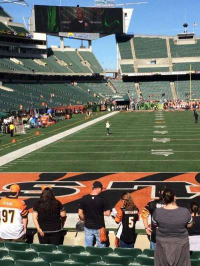 Paul Brown Stadium, section: 156, row: 10, seat: 11and12