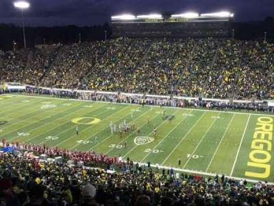 Autzen Stadium, section: 27, row: 74, seat: 15