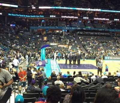 Spectrum Center, section: 115, row: J, seat: 17