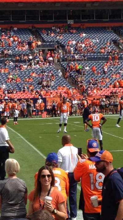 Sports Authority Field at Mile High, section: 109, row: 3, seat: 2