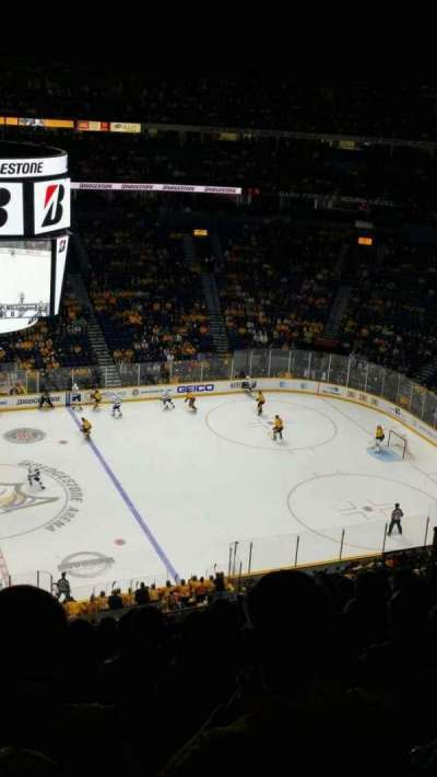 Bridgestone Arena, section: 325, row: K, seat: 15